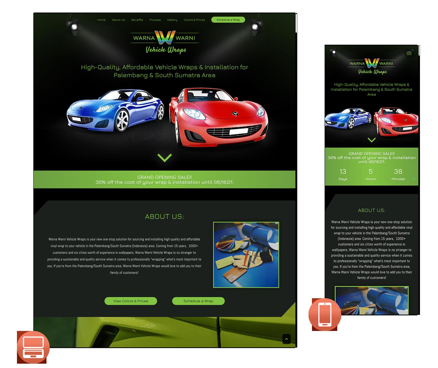 Responsive WordPress for Vehicle Wrap Company